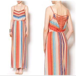 Anthropologie Esley Vertical Stripe Maxi Dress